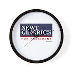 Newt Gingrich Wall Clock