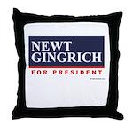 Newt Gingrich Throw Pillow