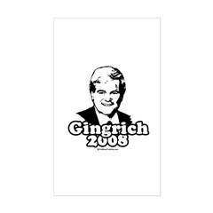 Gingrich 2008 Rectangle Sticker