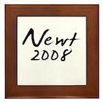 Newt Gingrich Autograph Framed Tile
