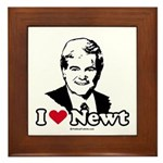 I Love Newt Gingrich Framed Tile