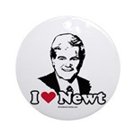 I Love Newt Gingrich Ornament (Round)