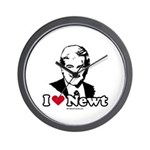 I Love Newt Gingrich Wall Clock