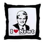 I Love Newt Gingrich Throw Pillow