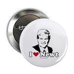 I Love Newt Gingrich Button