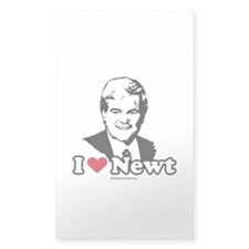 I Love Newt Gingrich Rectangle Decal
