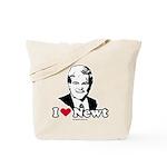 I Love Newt Gingrich Tote Bag