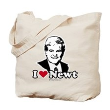 I Love Newt Gingrich Tote Bag