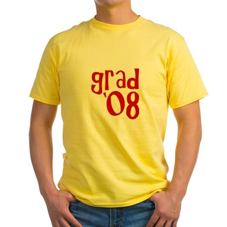 Grad 2008 - Red - Yellow T-Shirt