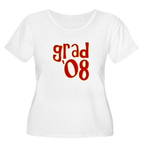 Grad 2008 - Red - Women's Plus Size Scoop Neck T-