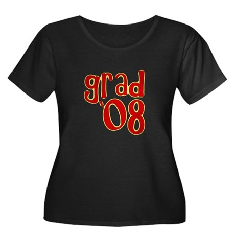 Grad 2008 - Red - Women's Plus Size Scoop Neck Da