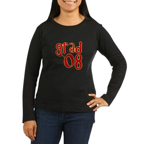 Grad 2008 - Red - Women's Long Sleeve Dark T-Shir