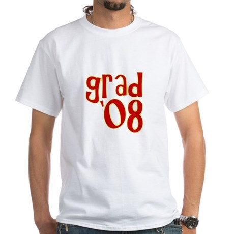 Grad 2008 - Red - White T-Shirt