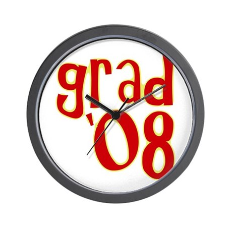 Grad 2008 - Red - Wall Clock