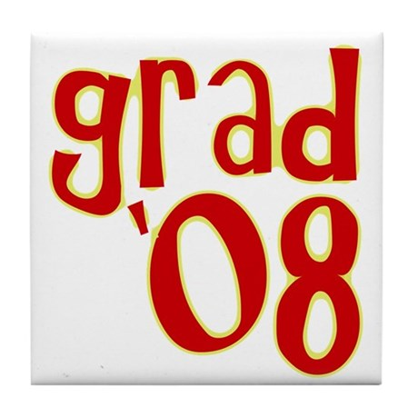 Grad 2008 - Red - Tile Coaster