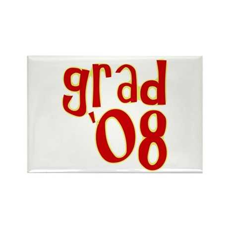 Grad 2008 - Red - Rectangle Magnet (100 pack)