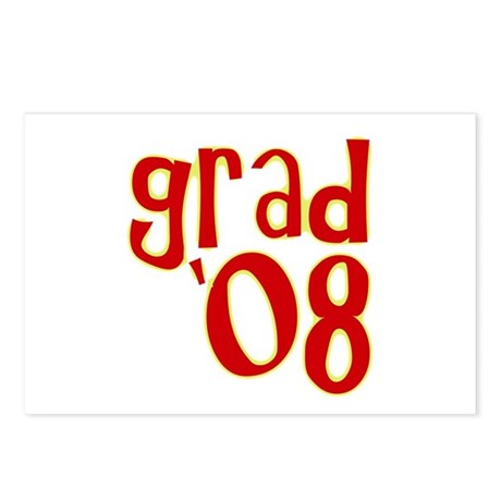 Grad 2008 - Red - Postcards (Package of 8)
