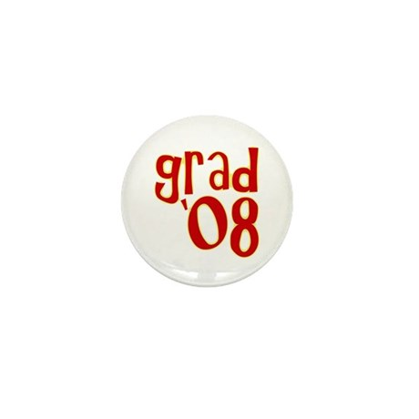 Grad 2008 - Red - Mini Button (10 pack)