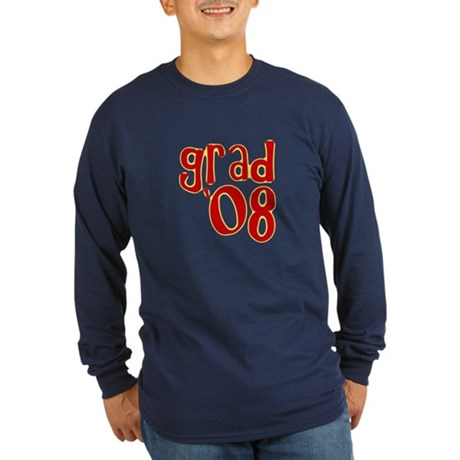 Grad 2008 - Red - Long Sleeve Dark T-Shirt