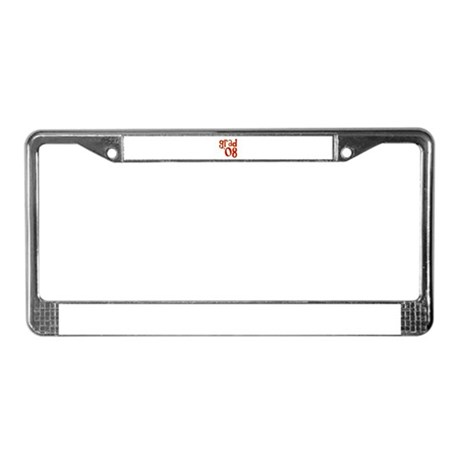 Grad 2008 - Red - License Plate Frame