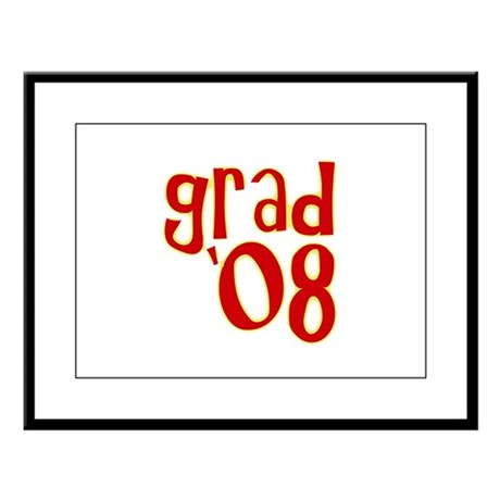 Grad 2008 - Red - Large Framed Print