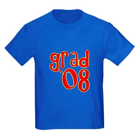 Grad 2008 - Red - Kids Dark T-Shirt
