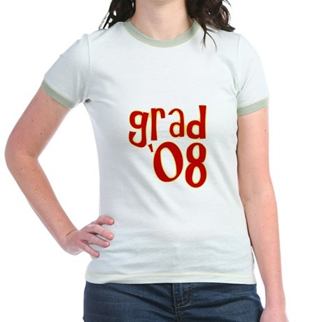 Grad 2008 - Red - Jr. Ringer T-Shirt