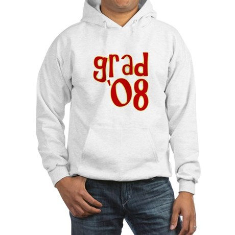 Grad 2008 - Red - Hooded Sweatshirt