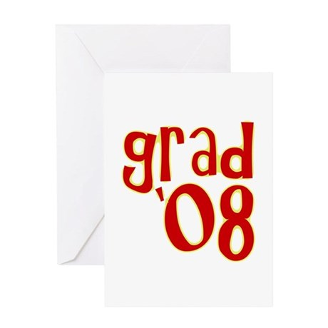 Grad 2008 - Red - Greeting Card
