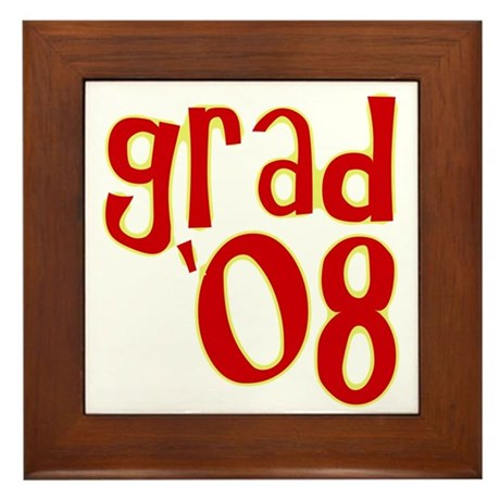 Grad 2008 - Red - Framed Tile