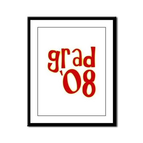 Grad 2008 - Red - Framed Panel Print