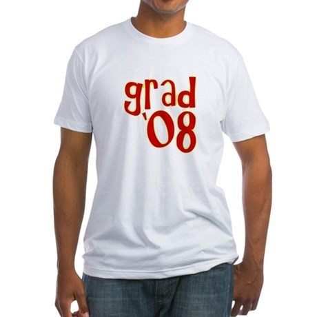 Grad 2008 - Red - Fitted T-Shirt