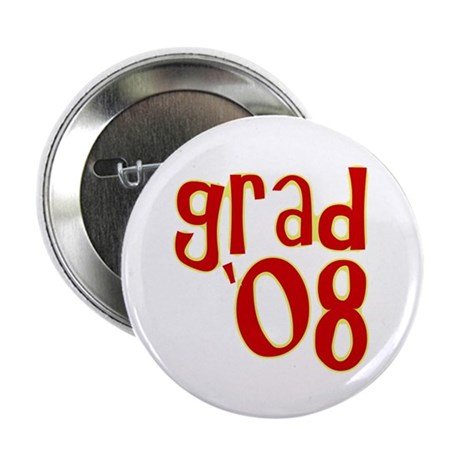 "Grad 2008 - Red - 2.25"" Button (10 pack)"