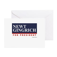 Newt Gingrich for President Greeting Cards (Pk of