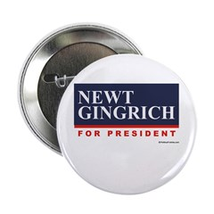 "Newt Gingrich for President 2.25"" Button (100 pack"