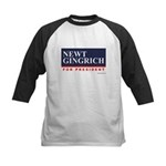 Newt Gingrich for President Kids Baseball Jersey