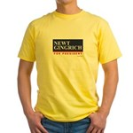 Newt Gingrich for President Yellow T-Shirt
