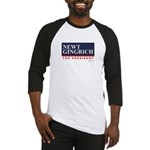 Newt Gingrich for President Baseball Jersey