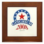 Gingrich 2008 Framed Tile