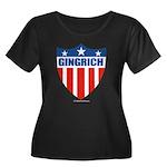 Gingrich Women's Plus Size Scoop Neck Dark T-Shirt