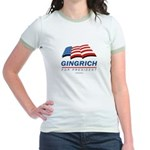Gingrich for President Jr. Ringer T-Shirt