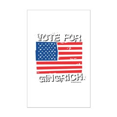 Vote for Gingrich Posters