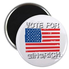 "Vote for Gingrich 2.25"" Magnet (100 pack)"