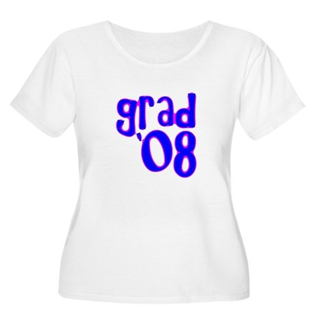 Grad 08 - Blue - Women's Plus Size Scoop Neck T-S