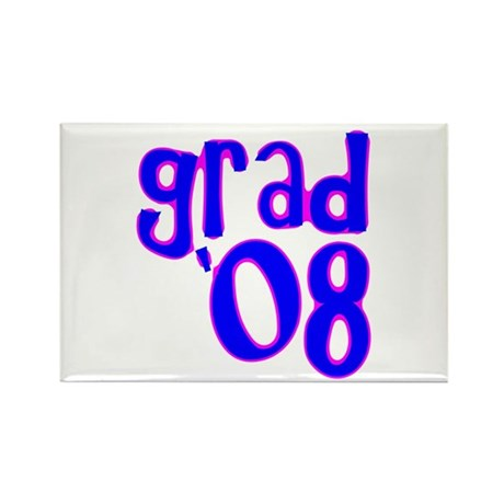 Grad 08 - Blue - Rectangle Magnet