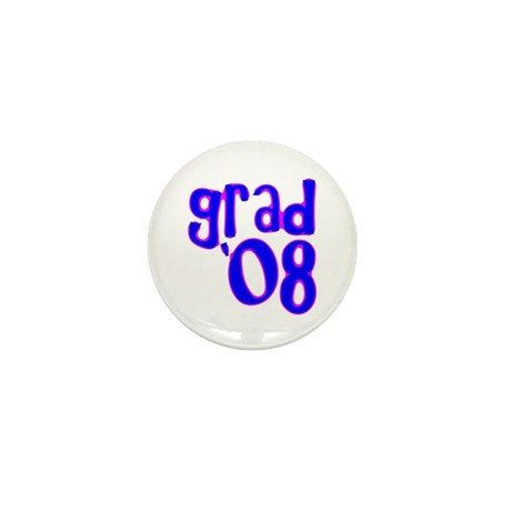 Grad 08 - Blue - Mini Button (10 pack)