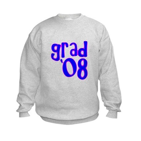 Grad 08 - Blue - Kids Sweatshirt