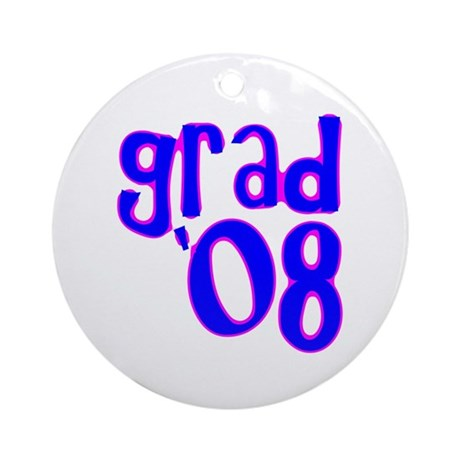 Grad 08 - Blue - Ornament (Round)