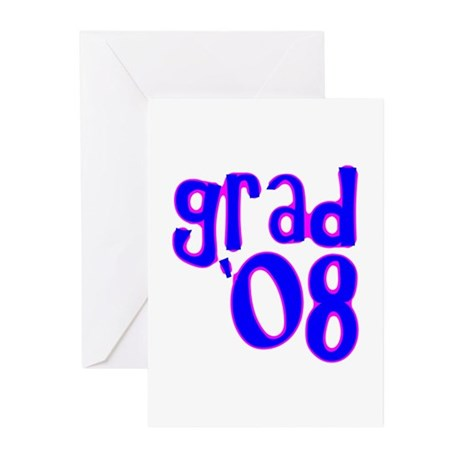 Grad 08 - Blue - Greeting Cards (Pk of 20)