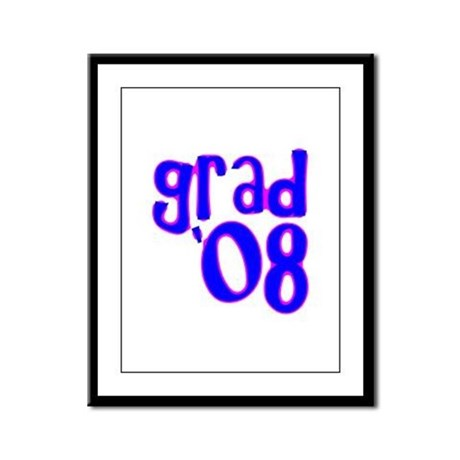 Grad 08 - Blue - Framed Panel Print